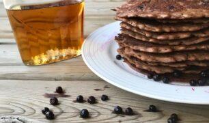 Chocolate Blueberry Pancakes 2