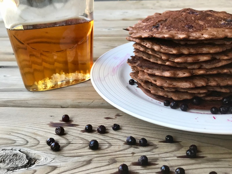 Chocolate Blueberry Pancakes