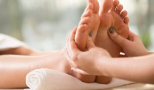 Reflexology for healthy skin