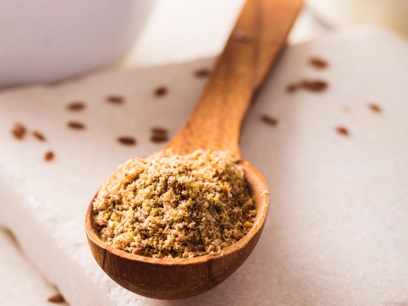 Heal Acne by Ground Flax Seed