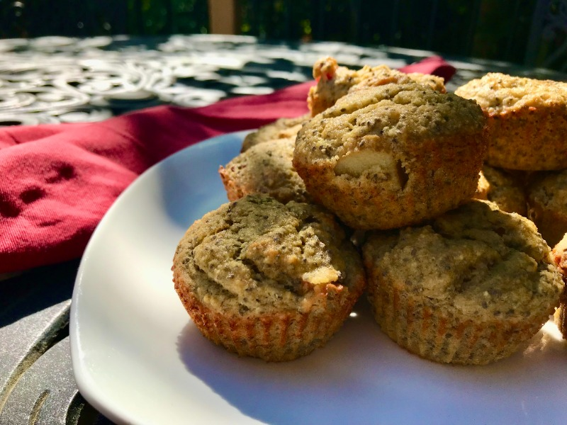 Banana, Chia & Rhubarb Muffins